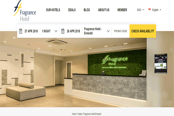 Fragrance Hotel Emerald Singapore Image