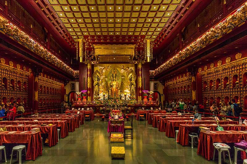 Buddha Tooth Relic Temple Interior Imge