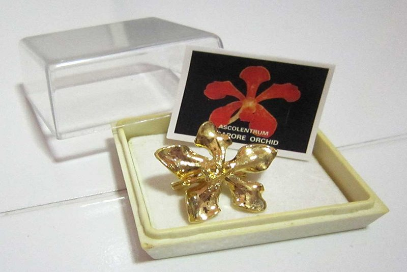 Gold Plated Orchids Gift Image